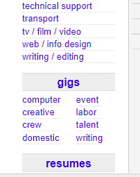 jobs that pay under the table on craigslist